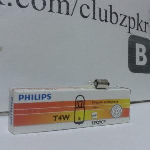 Лампа накаливания 12V T4W Philips