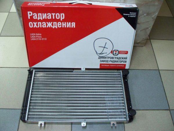 Радиатор охлаждения ВАЗ 2170, 2171, 2172,приора 2110, 2111, 2112 (н.о.) ДААЗ