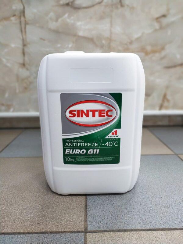 Антифриз зелёный G11 SINTEC -40° 10л