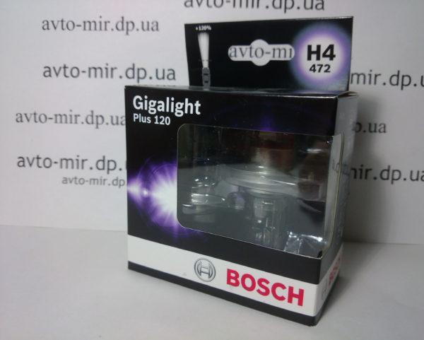 Лампа галогенная H4 Gigalight +120% BOSCH