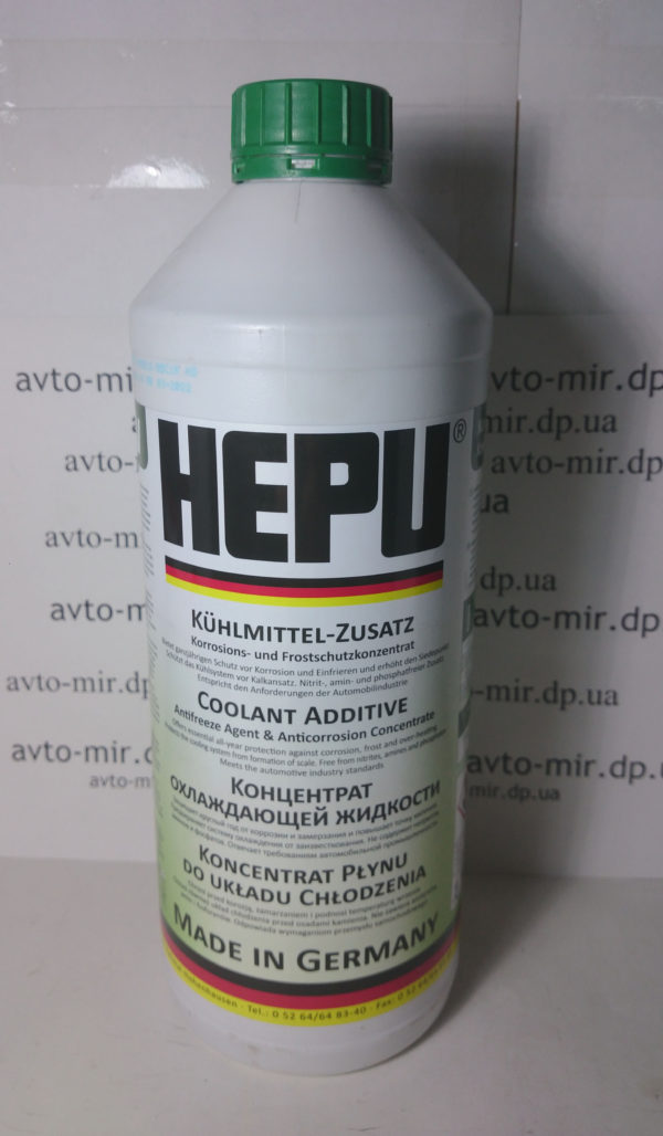 Антифриз зелёный 1,5л. концентрат HEPU