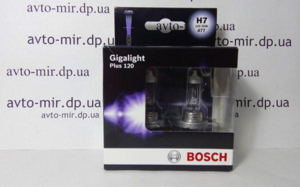 Лампа галогенная H7 Gigalight +120% BOSCH