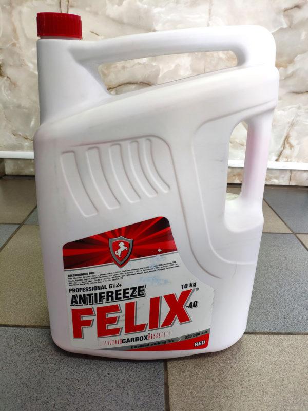 Антифриз G12 Felix Carbox -40 красный 10л