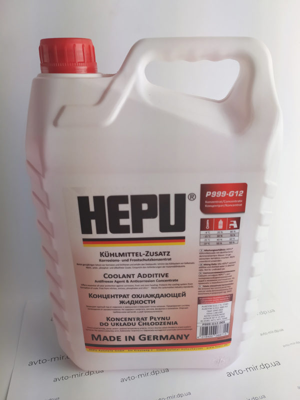 Антифриз красный G12 -80°С 5л концентрат HEPU