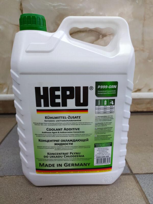 Антифриз зелёный G11 -80°С 5л концентрат HEPU