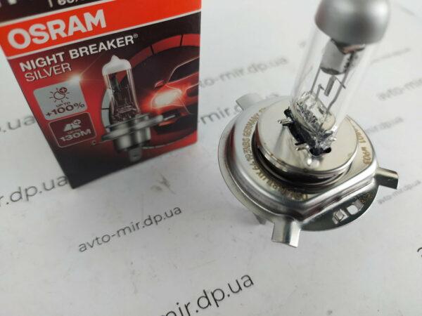 Лампа галогенная H4 +150% Night Breaker Laser Osram
